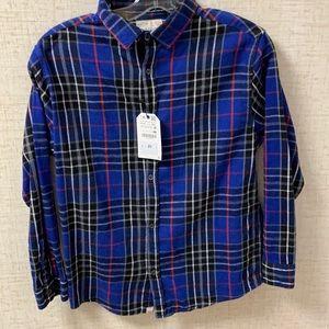 Zara kids NWT flannel button down top